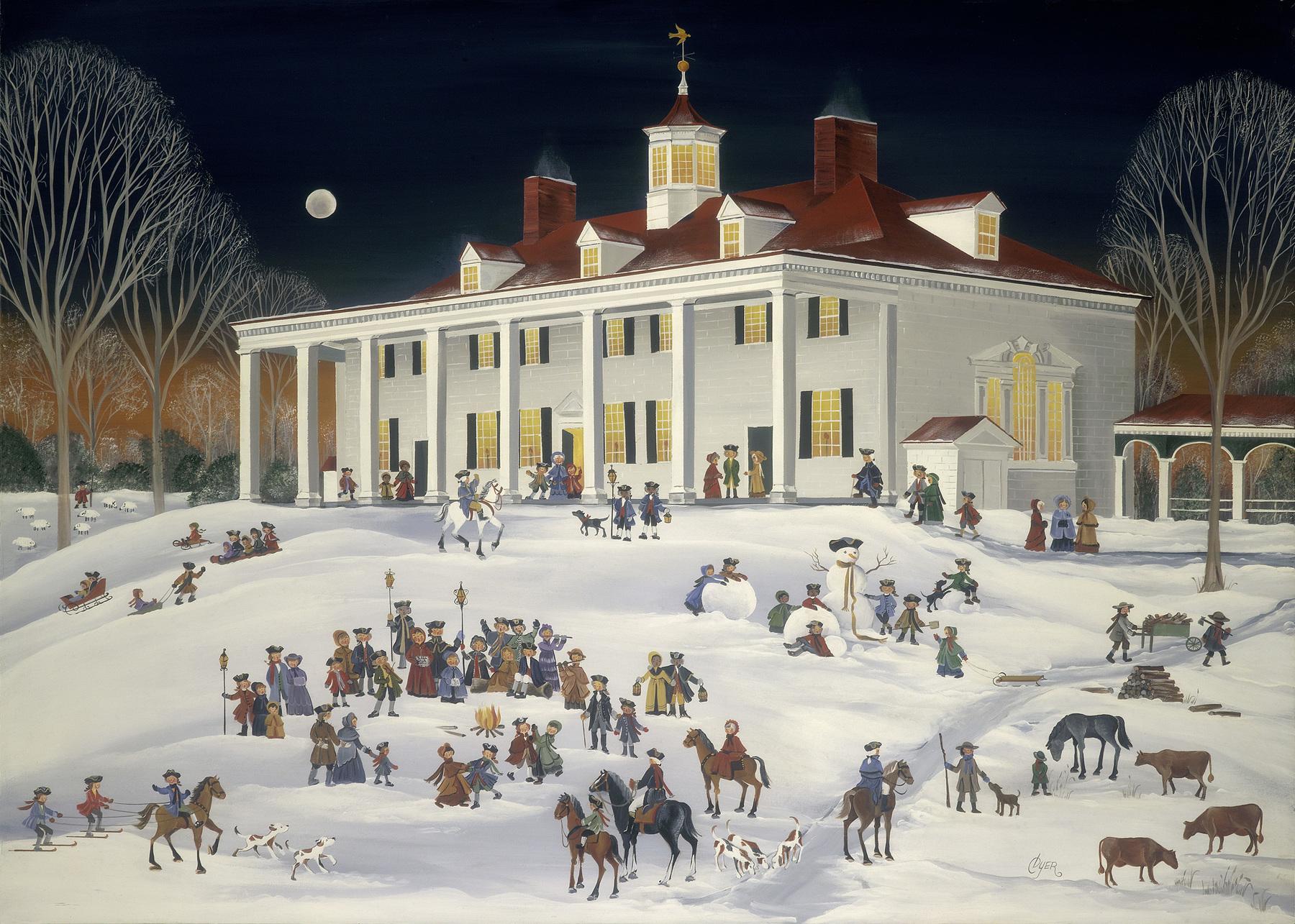 A Joyful Group at Mount Vernon